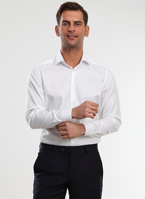 Kip Klasik Gömlek Beyaz